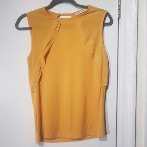 Zara Yellow Sleeveless Blouse
